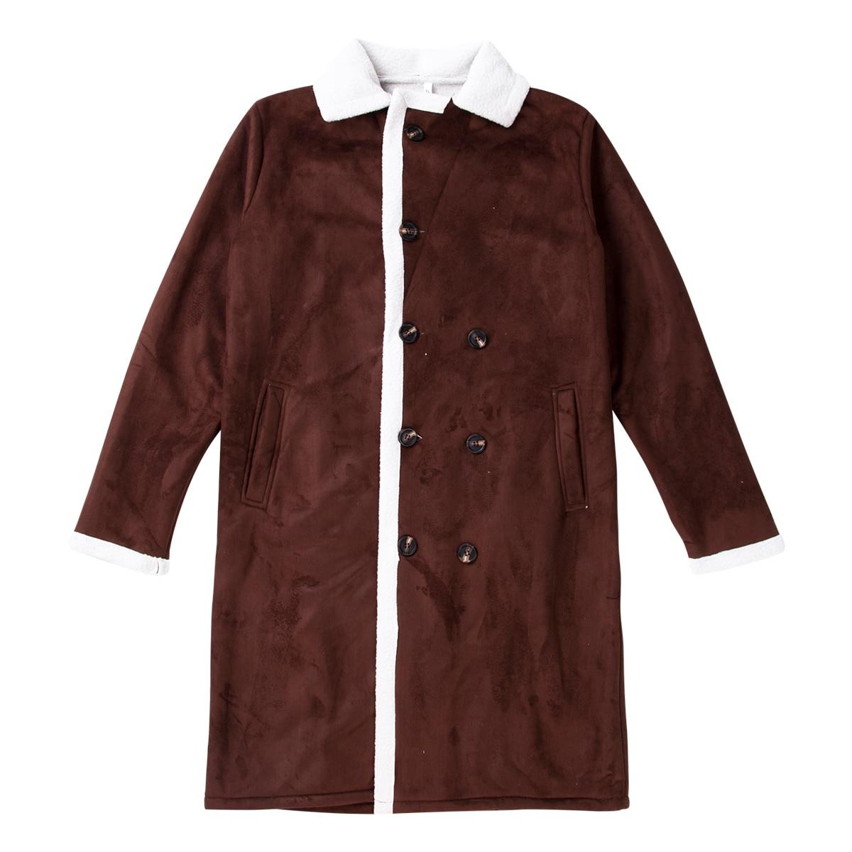 H96fca4574ce24521ae6b0aeee9945ccep Men's Winter Warm Trench Windproof Fur Fleece Long Coat Overcoat Lapel Warm Fluffy Jacket Buttons Outerwear Plus Size Coat