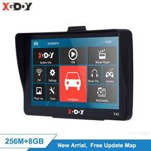 Xgody 7 дюймов Gps навигация грузовик автомобиль Gps Bluetooth Камера заднего вида без Android автомобильный навигатор Sat Nav сенсорный экран бесплатное обновление карта
