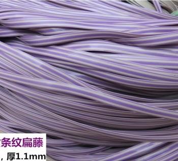 65Meters(500g)  Width:8mm Thickness:1.2mm Flat Purple Weaving Material Plastic Knit Repair Chair Table PE Rattan