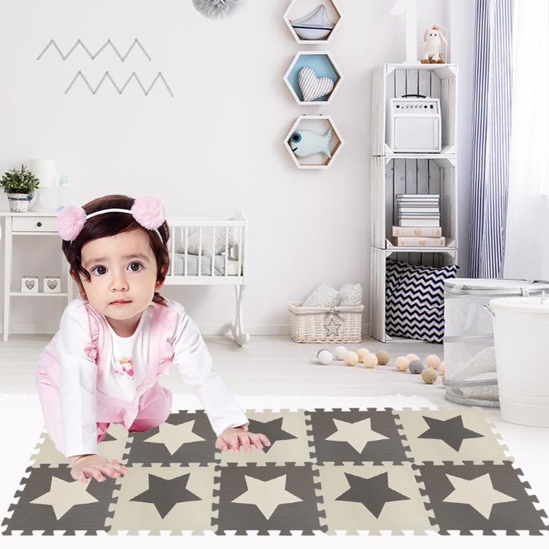 10pcs EVA Foam Interlocking Floor Play Mat Elaborate Manufacture Prolonged Durable Protective Puzzle Carpets Red Pink