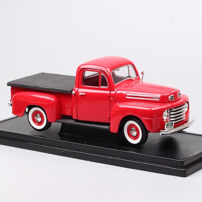 Grandes échelles voiture vintage 1948 Ford F1 camionnettes 1:18 modèle métal jouets voitures miniatures Diecasts et véhicules jouets souvenirs garçons