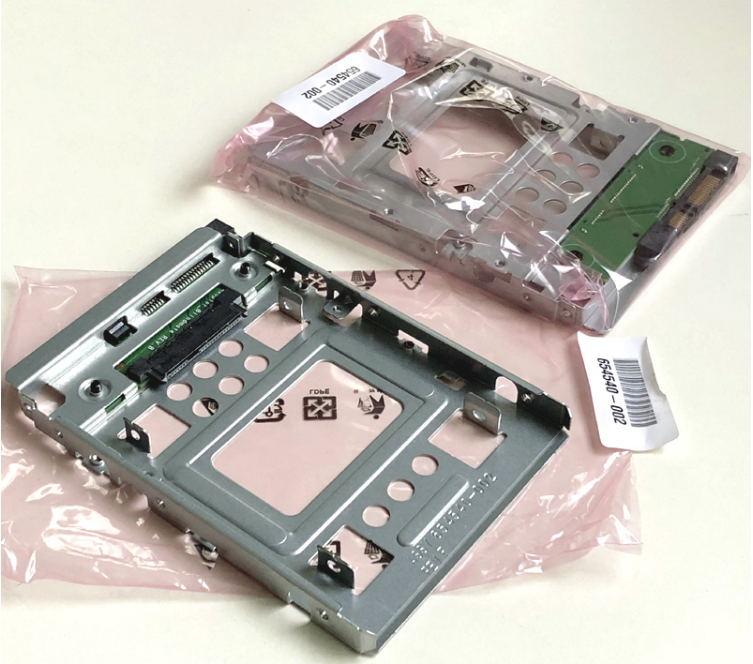 """2.5"""" to 3.5"""" SATA SSD HDD Adapter for DELL & HP Z800 Z820 Z840 Z600 Z620 Z640 654540-001 654540-002 GN10 GEN8 N54L Tray Caddy"""