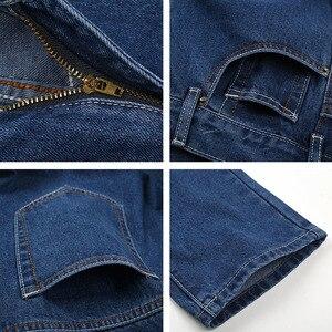 Image 5 - 2019 Mannen Katoen Rechte Classic Jeans Lente Herfst Mannelijke Denim Broek Overalls Designer Mannen Jeans Hoge Kwaliteit Maat 28 46