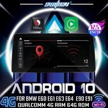 Switnav android 10 qualcomm carro dvd para bmw série 5 e60 e61 e63 e64 para bmw série 3 e90 e91 e92 monitor de áudio do carro estéreo