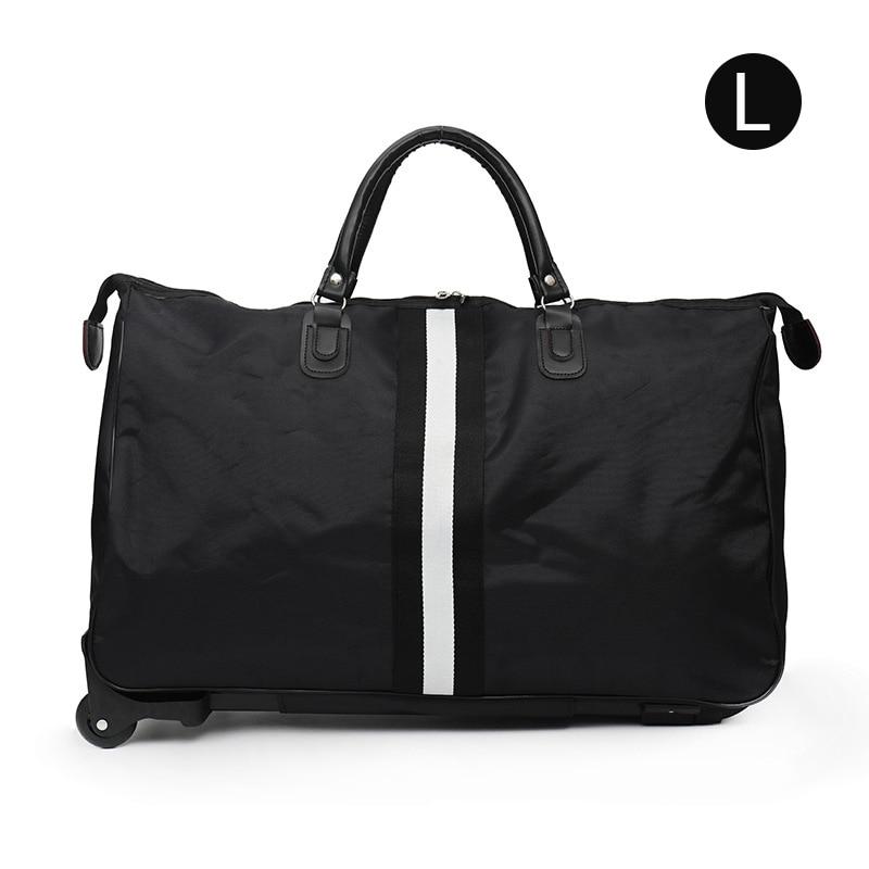 Полосатая сумка для переноски, водонепроницаемая нейлоновая сумка-тролли для путешествий, мужские дорожные сумки, складной чемодан с колесами XA225C - Цвет: Style 1 L