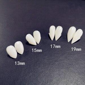 2 шт. Зубы вампира зомби привидение-дьявол зубные протезы клыки поддельный зуб с Чехол Хэллоуин Косплей Prop Toy