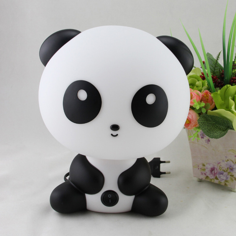Night Sleeping Lamp Baby Room Panda/Rabbit/Dog/Bear Cartoon Light Kids Bed Lamp For Gifts US/EU Plug J99Store
