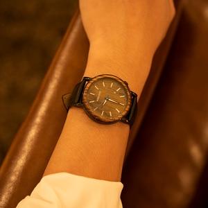 Image 5 - Mens Watches BOBO BIRD Quartz Wristwatch Man Male Metal leather Show date Promotion sale montre homme Christmas anniversary gif