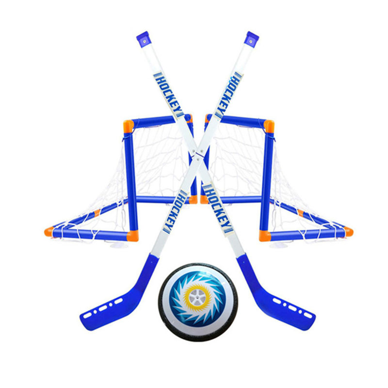 Mini Hockey Stick Set Indoor Ice Hockey Sports Game Training Sticks Goals with Balls for Birthday Party Gifts Children Toy