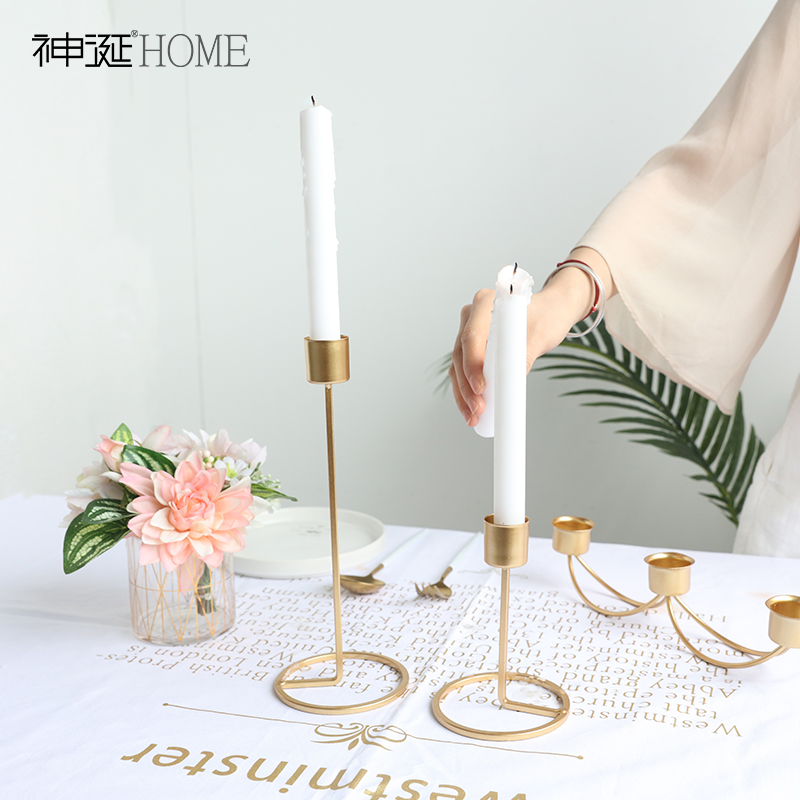 Wedding Centerpieces Metal Candle Holders European Candlestick