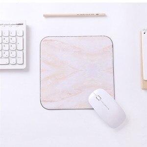 Image 4 - 20*20 대리석 마우스 패드 스퀘어 고무 미끄럼 방지 두꺼운 게임 컴퓨터 노트북 매트 쿠션 게이머 마우스 패드 매트 데스크