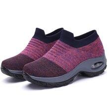 Женские кроссовки с воздушной подушкой носки из плетеной ткани