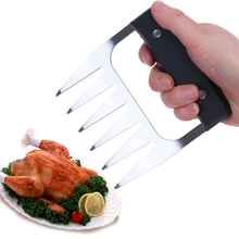 1pcs Bear Claw Barbecue Fork Clamp Stainless Steel Useful Meat Processor Tool Multi-function Remover