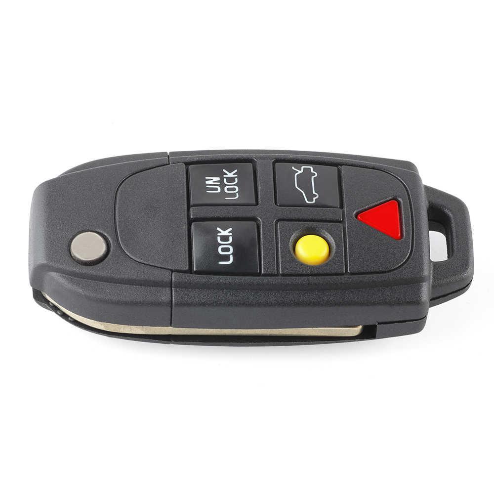 Battery Folding Key Case NE66 Blank Remote Control for Volvo 5 Keys
