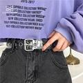 Женский прозрачный полный ремень с втулкой, женский ремень с заклепками в стиле панк, пряжка на талии, полимерные пластиковые ПВХ Джинсы для...