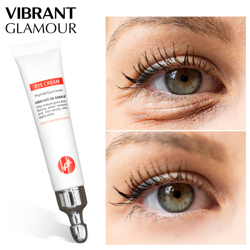 Peptide Collagen Eye Cream Anti Wrinkle Remove Eye Bag Anti Puffiness Dark Circles Fat Granule Moisturizing Care VIBRANT GLAMOUR