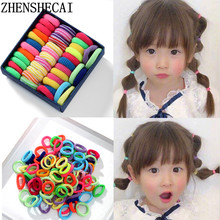 100pcs/lot Hair accessories rubber bands for girls hair bands headbands for children hair jewelry mix color(China)