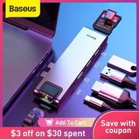 Baseus USB C HUB USB HUB a USB 3.0 adattatore compatibile HDMI per MacBook Pro Air HUB TB 3 Dock RJ45 USB Splitter Dual Type C HUB