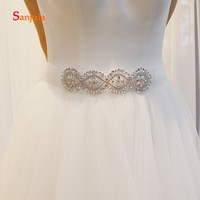 Handmade Unique Bridal Belt Crystals Attractive Women Evening Party Dress Belt Decorations cinturon fiesta mujer B20