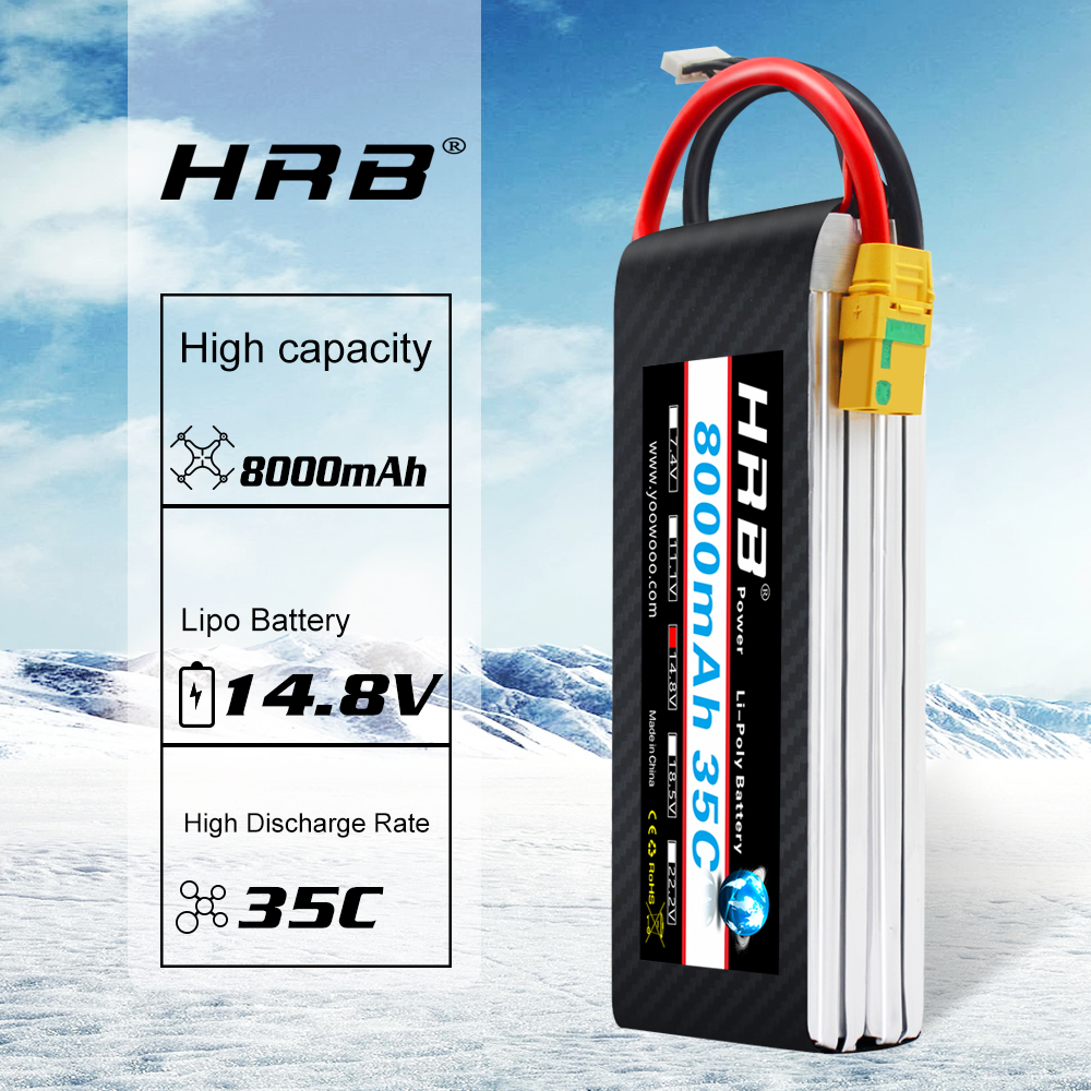 HRB <font><b>Lipo</b></font> Battery 2S <font><b>3S</b></font> 4S 6S 7.4V 11.1V 14.8V 22.2V <font><b>8000mah</b></font> 35C Li-Poly Bateria AKKU TRX for RC Helicopter Airplane rc cars image