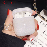 Bling Bling Luxury Diamonds Case For Airpods Case Candy Colors Girl Protective Cover For Airpods 2 Airpods pro earphone cases