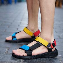 Мужские сандалии 2021 модные повседневные летние туфли; Сандалии