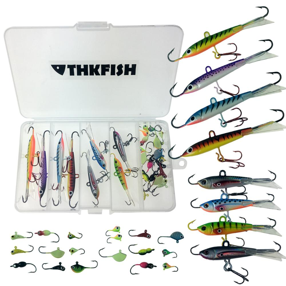 Ice Fishing Jigs  Size 12 Hook  6 Pack Assorted