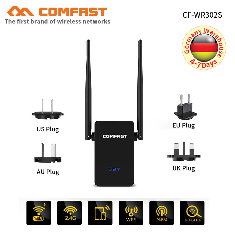 COMFAST CF-WR302S Gsm 300M 10dBi Antenna Wireless-N Wifi Router AP Wifi Repeater Amplifier 802.11b/g/n WIFI Extender Repetidor