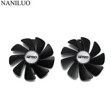Gpu rx 480 rx 470 refrigerador nitro engrenagem ventilador para safira rx480 rx470 placa de vídeo sistema de refrigeração como substituição