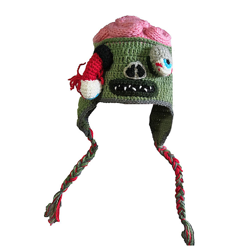 Zombie Eyes Knitted Beanies Party Halloween Costume Accessory Gift hat (S for children 48-50cm, L for adult 53-61cm)