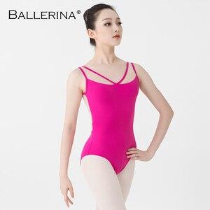 Image 5 - Balerin bale mayoları Yoga seksi aerialist dans kostümü örgü jimnastik kolsuz mayoları 2518