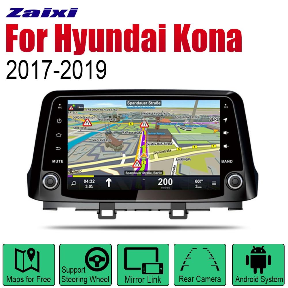 ZaiXi Auto Radio 2 Din Android Car Player For Hyundai Kona 2017~2019 GPS Navigation BT Wifi Map Multimedia system Stereo