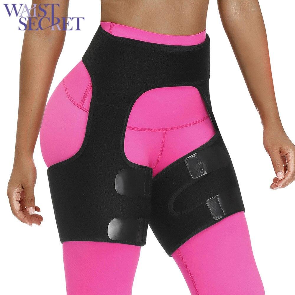 WAIST SECRET Slim Thigh Trimmer Leg Shapers Slender Slimming Belt Neoprene Sweat Shapewear Toned Muscles Band Thigh Slimmer Wrap