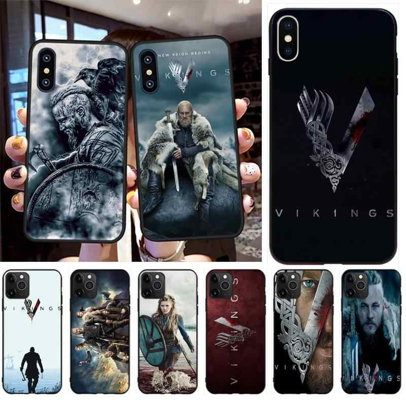 PENGHUWAN TV Vikings Ragnar Lothbrok DIY Printing Phone Case cover Shell for iPhone 11 pro XS MAX 8 7 6 6S Plus X 5S SE XR case