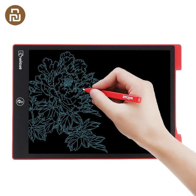 Sıcak orijinal Wicue 12 inç çocuklar LCD el yazısı kurulu yazma tableti dijital çizim tableti kalem ile akıllı ev için