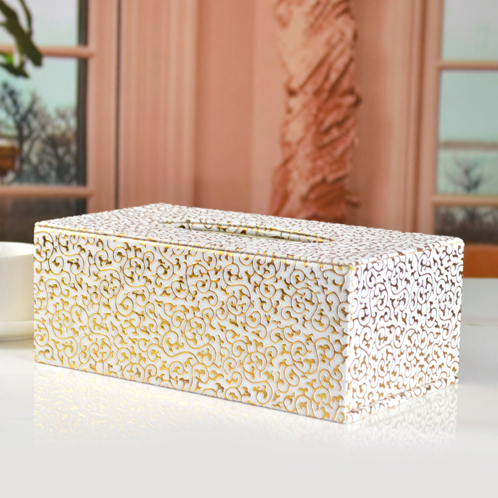 Изысканный отель резной Магнитный прямоугольный автомобильный полиуретановая кожа коробка офисная мода украшение Домашний Настольный диспенсер салфеток держатель