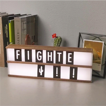 LED Light Box Letters DIY Lightbox White Letters Combination Night light Box AA Battery Powered Portable Cinema Box qyjsd a4 size led combination creative night light box lamp diy black letters cards usb port powered cinema light box