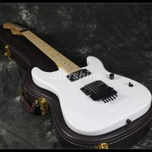 2019 Hot Sell Reverse Standard Electric Guitar Z-WS7 FR Bridge White Color Maple Neck Black Hardware/Chinese Made Guitars