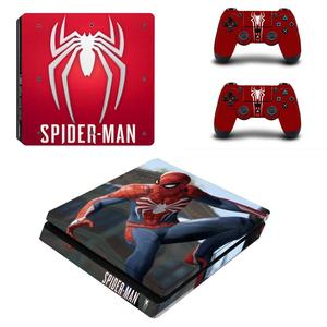 Image 2 - Spiderman Full Cover Frontjes PS4 Slim Skin Sticker Decal Vinyl Voor Playstation 4 Console En Controllers PS4 Slim Skin Sticker