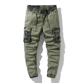 Nowa zieleń wojskowa kamuflaż drukuj męskie spodnie bojówki dorywczo luźne zewnątrz taktyczne spodnie wojskowe kilka kieszeni duże rozmiary męskie spodnie 29-38 tanie i dobre opinie SENSELINK Cztery pory roku Spodnie cargo CN (pochodzenie) COTTON Akrylowe Daily W stylu safari Plisowana Z KIESZENIAMI LOOSE