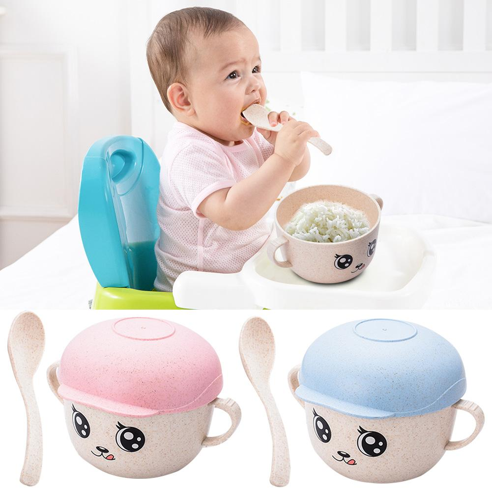 NEW Baby Snacks Bowl Children Kids Food Storage Dishes Anti Spill Baby Solid Feeding Plate Tableware Baby Feeding Stuff