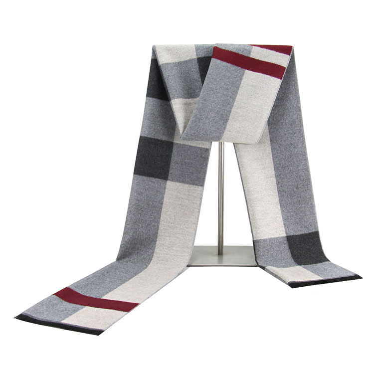 New mens scarves winter warm thickened plaid men cotton velvet square menwinter scarf