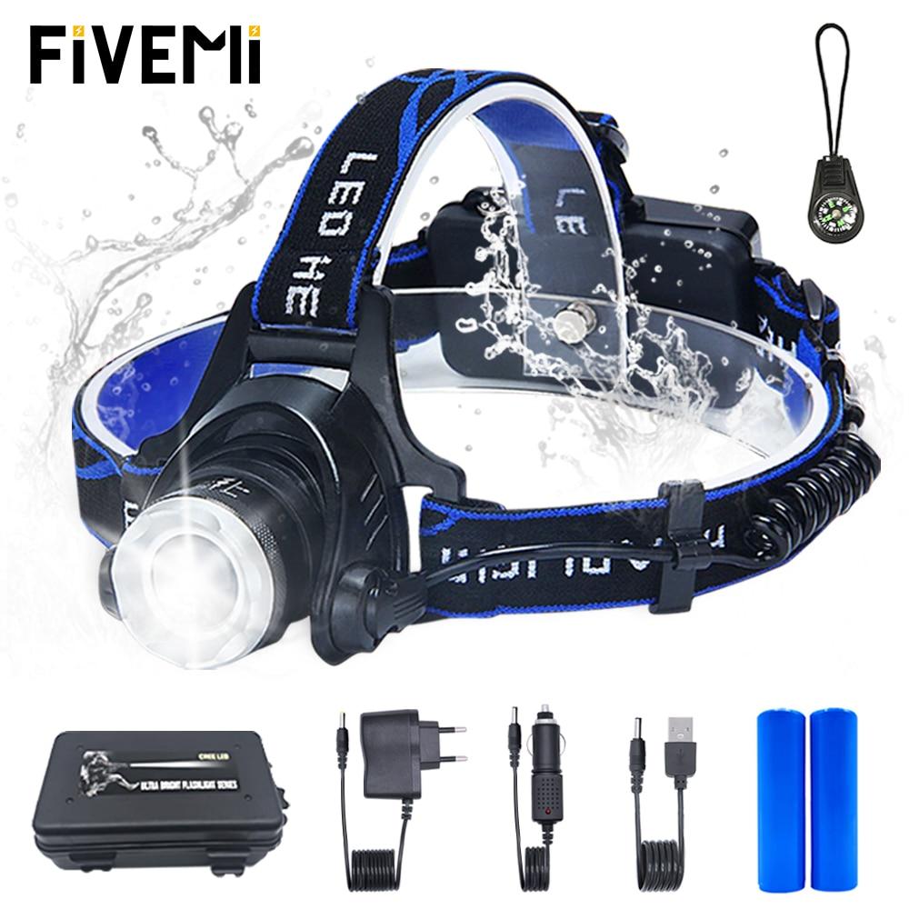 LED Headlamp Fishing Headlight T6/L2 Zoom Lamp Waterproof Head Torch Flashlight Head Lamp Use 18650 Battery For Bicycle Light