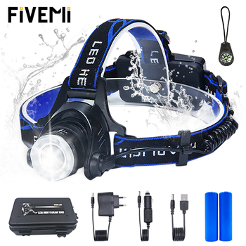 цена на LED headlamp fishing headlight T6/L2 Zoom lamp Waterproof Head Torch Flashlight Head lamp use 18650 battery for Bicycle light