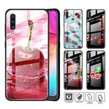 Gehärtetem Glas Telefon Fall für Samsung Galaxy A50 A70 A51 A71 A10 A20 A30 A40 A91 A01 M31 M21 M51 abdeckung Coque