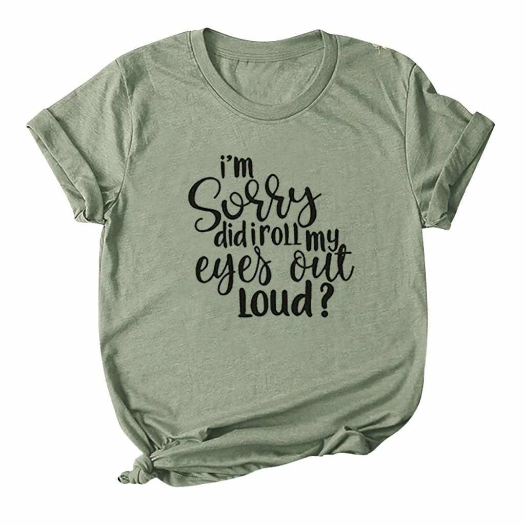 Thời Trang Mới In Chữ T Áo Sơ Mi Nữ Tay Ngắn Cổ Tròn Rời Áo Thun Nữ Mùa Hè 2020 Phụ Nữ Áo Thun Áo Camisetas mujer