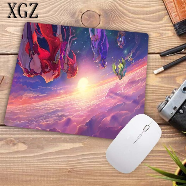 XGZ League of Legends Girl Gaming Large Locking Edge Mousepad Desk Mat Computer Game Mouse Pad Gamer Play Mats For CSGO DOTA XXL 6