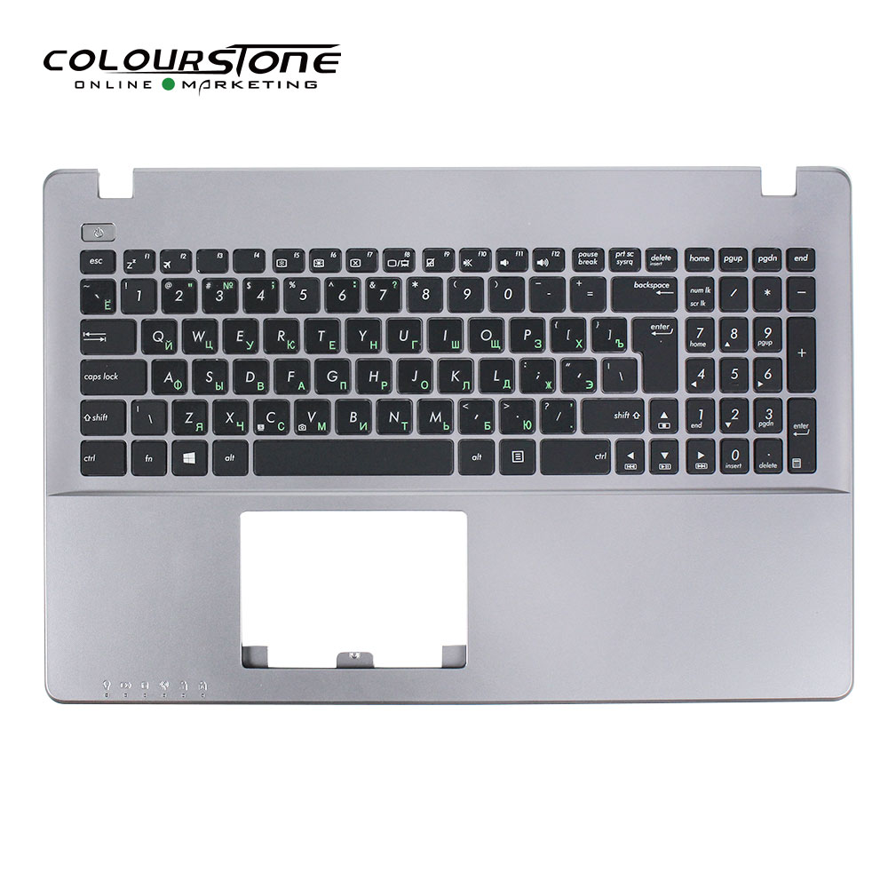 <font><b>X550</b></font> RU laptop <font><b>keyboard</b></font> For <font><b>ASUS</b></font> <font><b>X550</b></font> X550C X550CA X550CC X550CL X550J X550JD Russia WITH <font><b>COVER</b></font> C Silver Grey US Engraved to Ru image