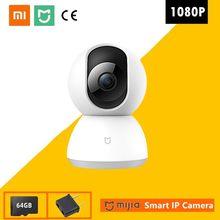 Новая умная IP-камера Xiaomi 1080P Mi с углом обзора 360 градусов, беспроводная Wi-Fi видеокамера с ночным видением, веб-камера, видеокамера с защитой дл...