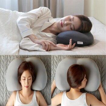 3D cou Micro Airball oreiller sommeil profond dépendance repose-tête coussin d'air soulagement de la pression oreillers cadeau lavable taie d'oreiller couvre 26